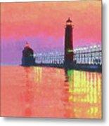 Great Lakes Light Metal Print