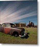 Abandoned Ford Car At Abandoned Farm Metal Print