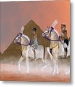Great Pyramids And Nobility Metal Print