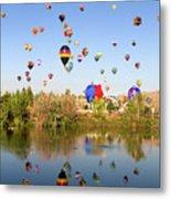 Great Reno Balloon Races Metal Print