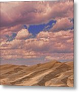 Great Sand Dunes And Great Clouds Metal Print