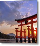 Great Torii Of Miyajima At Sunset Metal Print
