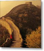 Great Wall In The Mist Metal Print