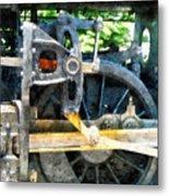 Great Western 90 Wheel Closeup Metal Print