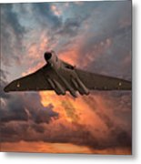 Great White Vulcan Metal Print