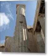 Grecian Ruins Metal Print