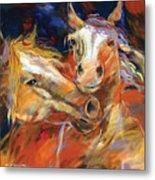 Grecos Horses Metal Print