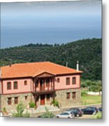 Greece Summer Vacation Landscape Metal Print