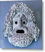 Greece: Theatrical Mask Metal Print