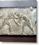 Greece: Wrestlers Metal Print