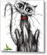 Greedy The Cat Metal Print