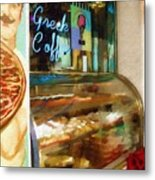 Greek Coffee Metal Print