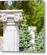 Greek Ionic Columns Metal Print