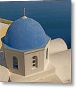 Greek Island Dome Metal Print