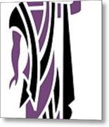 Greek Man In Purple Metal Print