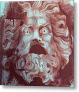 Greek Mask Metal Print
