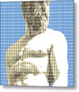 Greek Statue #2 - Blue Metal Print