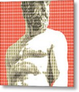 Greek Statue #2 - Orange Metal Print