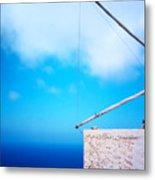 Greek Windmill Metal Print
