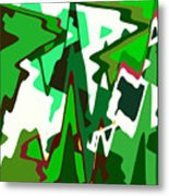 Green Abstract Squared #2 Metal Print