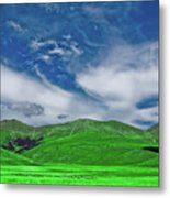 Green And Blue Landscape Metal Print