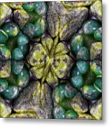 Green And Blue Stones 2 Metal Print
