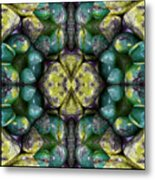 Green And Blue Stones 3 Metal Print