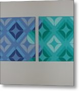 Green And Blue With Envy Metal Print
