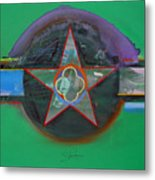 Green And Violet Metal Print