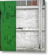 Green And White Metal Print