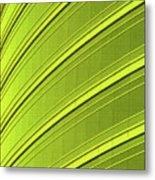 Green And Yellow Building Abstract Metal Print