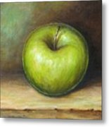 Green Apple Metal Print by Mirjana Gotovac
