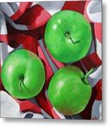 Green Apples still life painting Metal Print