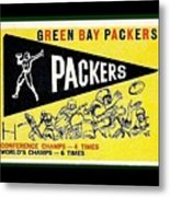 Green Bay Packers 1959 Pennant Metal Print
