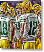 Green Bay Packers Team Art 2 Metal Print