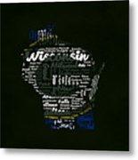Green Bay Packers Typographic Word Art Metal Print