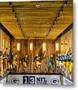Green Bay Packers Uniforms Then And Now Metal Print