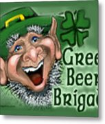 Green Beer Brigade Metal Print