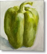 Green Bell Pepper Metal Print