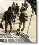 Green Berets Board A C-130h3 Hercules Metal Print
