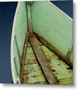 Green Boat Metal Print