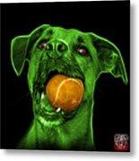 Green Boxer Mix Dog Art - 8173 - Bb Metal Print
