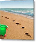 Green Bucket  Metal Print