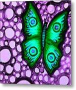 Green Butterfly II Metal Print by Brenda Higginson