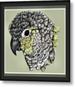 Green Cheek Metal Print