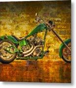 Green Chopper Metal Print