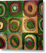 Green Circles Metal Print