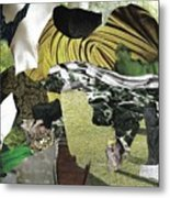 Green Collage 1 Metal Print
