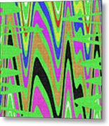 Green Color Abstract #140 Metal Print