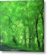 Green Creeper Metal Print